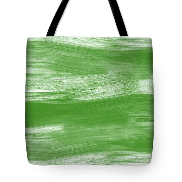 Green Drift- Abstract Art By Linda Woods Tote Bag