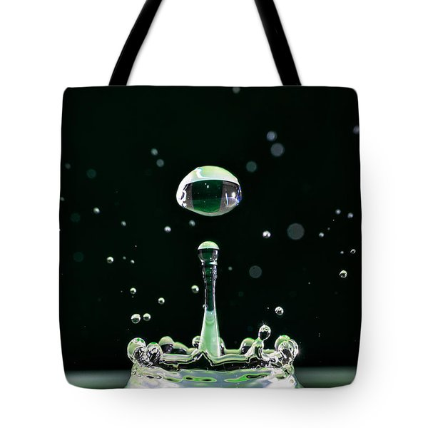Green Drops Tote Bag by Cristian Ghisla