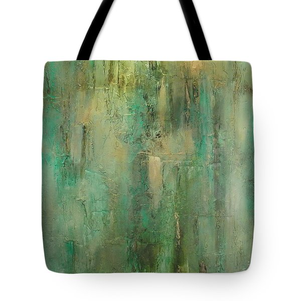 Tote Bag featuring the painting Green Envy by Tamara Bettencourt