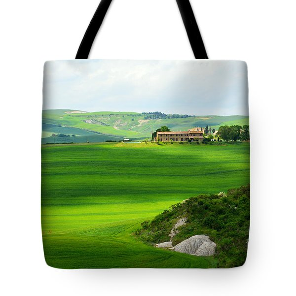 Green Escape In Tuscany Tote Bag