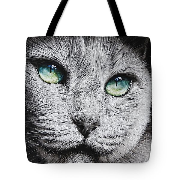 Green-eyed Diva Tote Bag