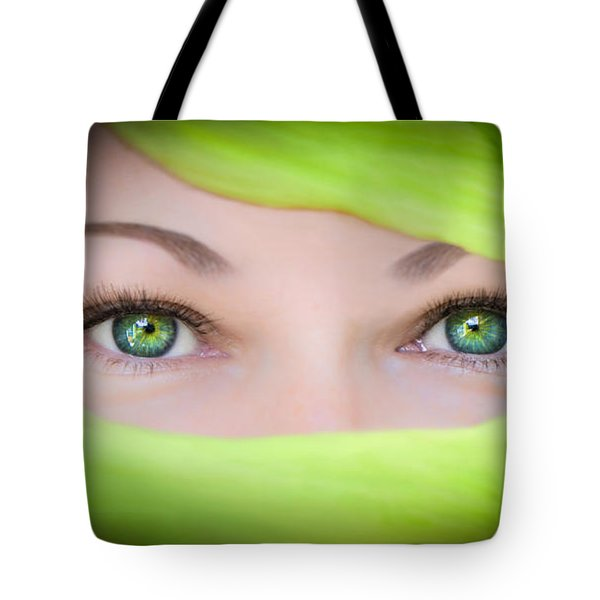 Green-eyed Girl Tote Bag