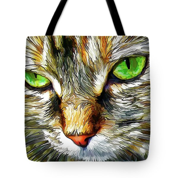Green-eyed Monster Tote Bag