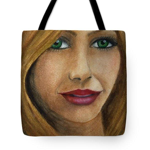 Green Eyes Upclose Tote Bag