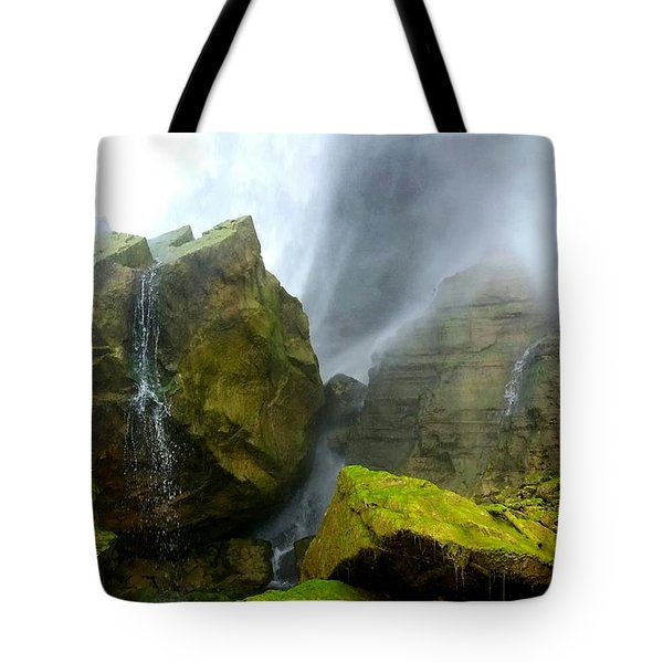 Tote Bag featuring the photograph Green Falls by Raymond Earley