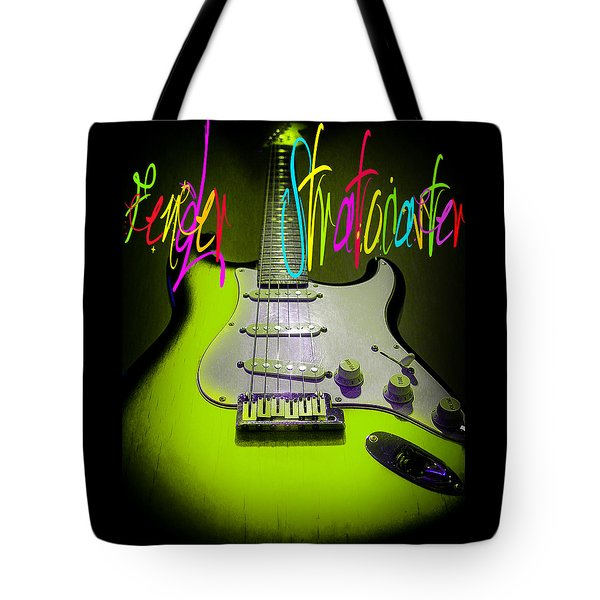 Green Stratocaster Guitar Tote Bag