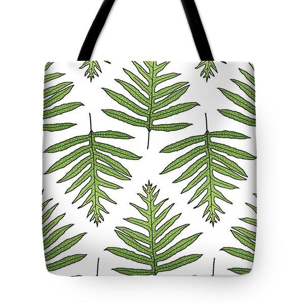 Green Fern Array Tote Bag