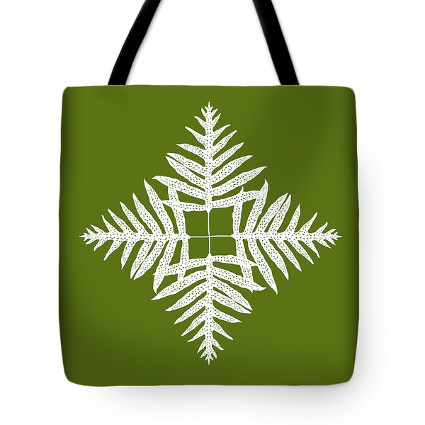 Green Fern Diamond Tote Bag