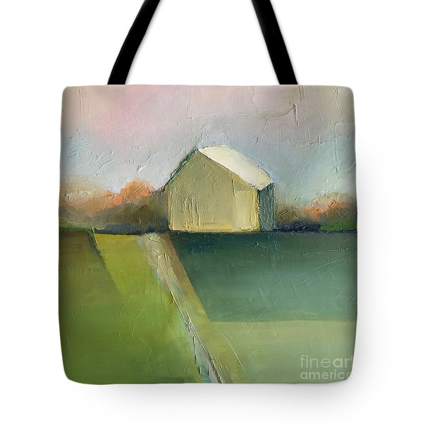 Tote Bag featuring the painting Green Field by Michelle Abrams