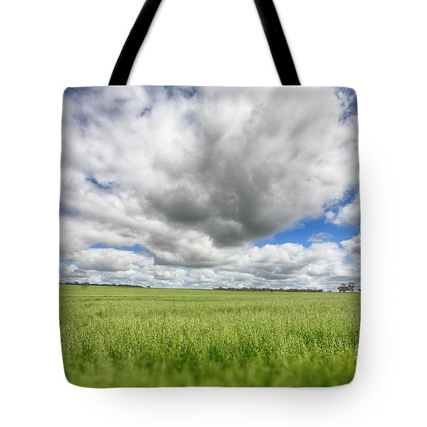 Tote Bag featuring the photograph Green Fields 2 by Douglas Barnard