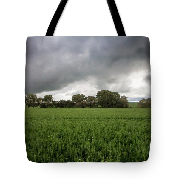 Tote Bag featuring the photograph Green Fields 5 by Douglas Barnard