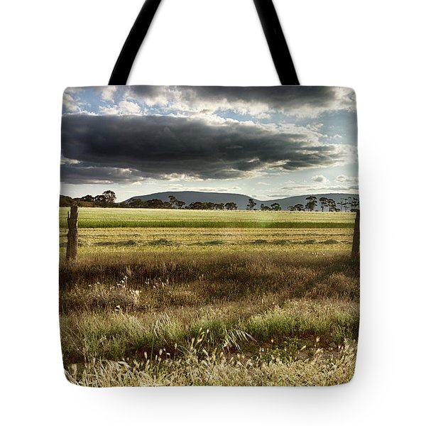 Tote Bag featuring the photograph Green Fields 6 by Douglas Barnard