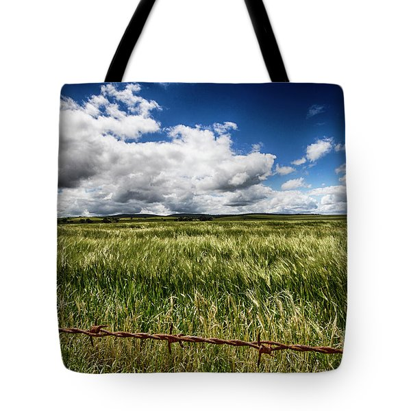 Tote Bag featuring the photograph Green Fields by Douglas Barnard