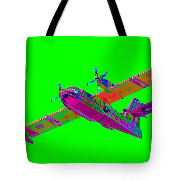 Green Fire Flight  Tote Bag