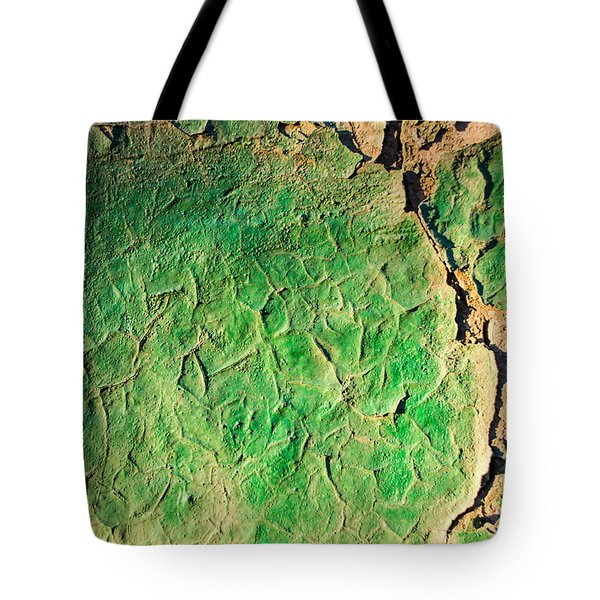 Green Flaking Brickwork Tote Bag