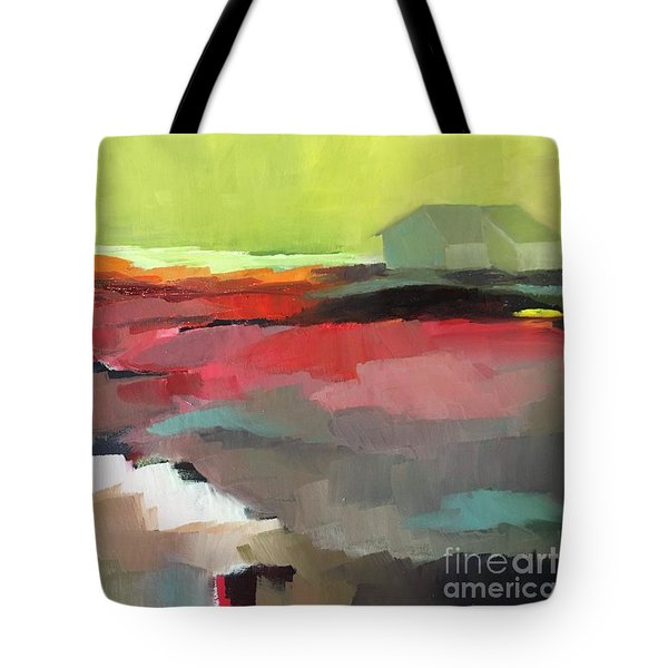 Tote Bag featuring the painting Green Flash by Michelle Abrams