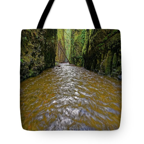 Tote Bag featuring the photograph Green Flow by Jonathan Davison