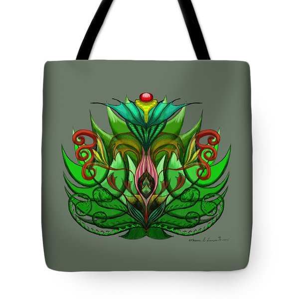 Green Flower Tote Bag