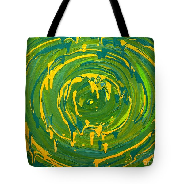 Green Forest Swirl Tote Bag