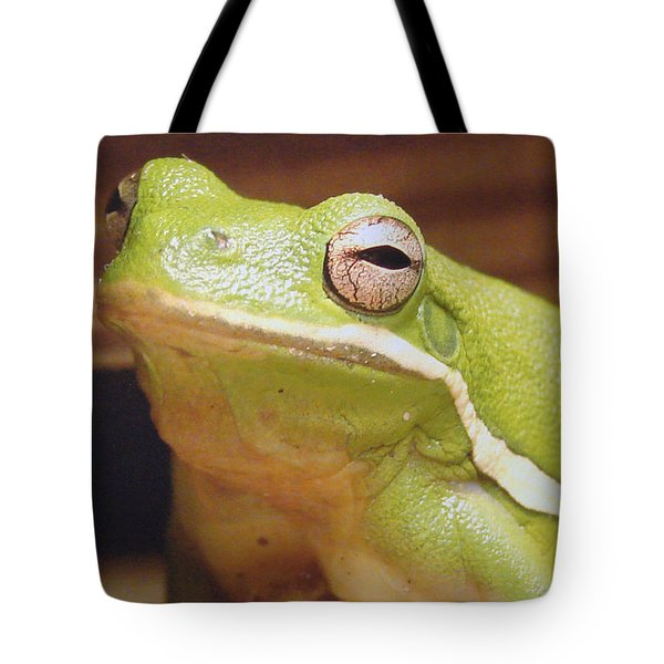 Green Frog Tote Bag by J R Seymour