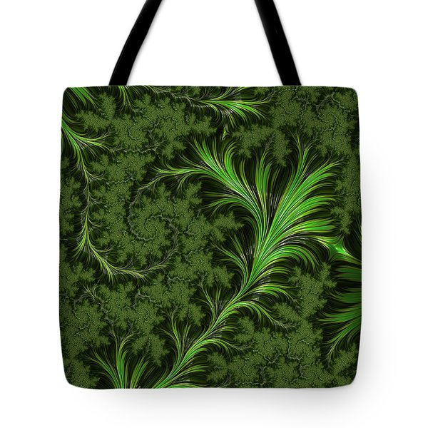 Green Fronds Tote Bag by Rajiv Chopra