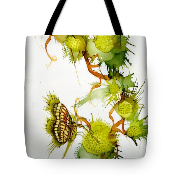 Green Fruit And Butterfly Tote Bag