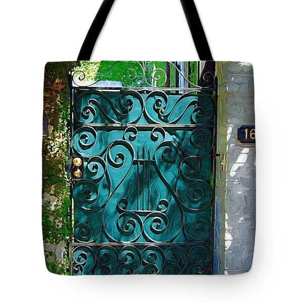Tote Bag featuring the photograph Green Gate by Donna Bentley