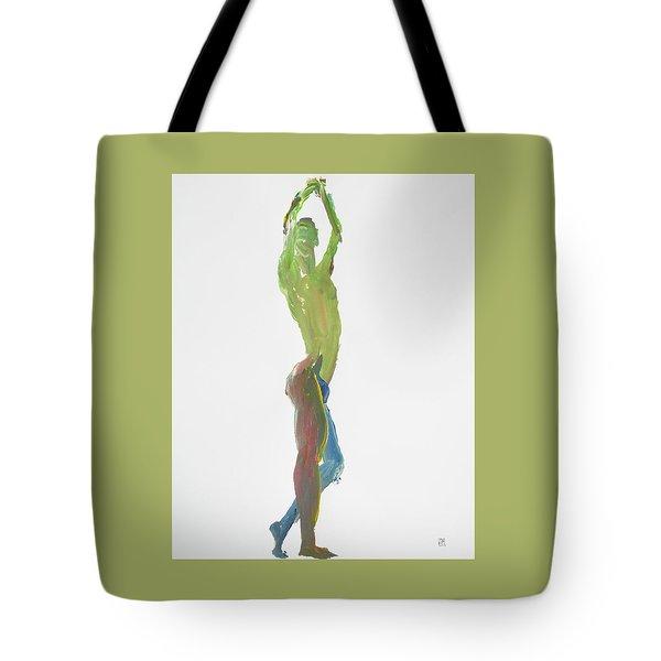 Green Gesture 1 Profile Tote Bag
