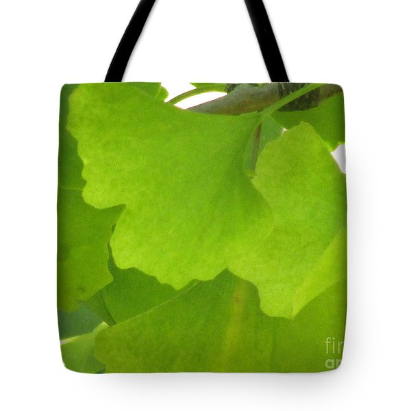 Green Ginkgo Tote Bag