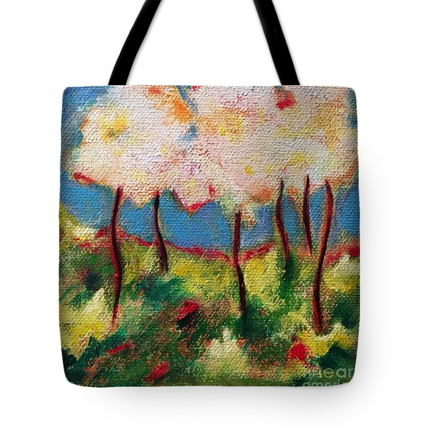 Green Glade Tote Bag by Elizabeth Fontaine-Barr