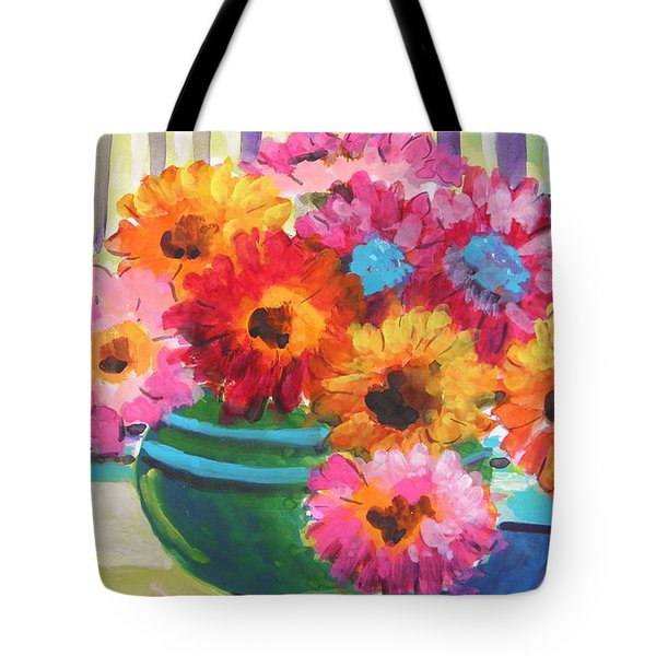Green Glass Bowl Tote Bag by John Williams