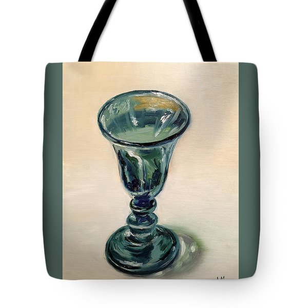 Green Glass Goblet Tote Bag