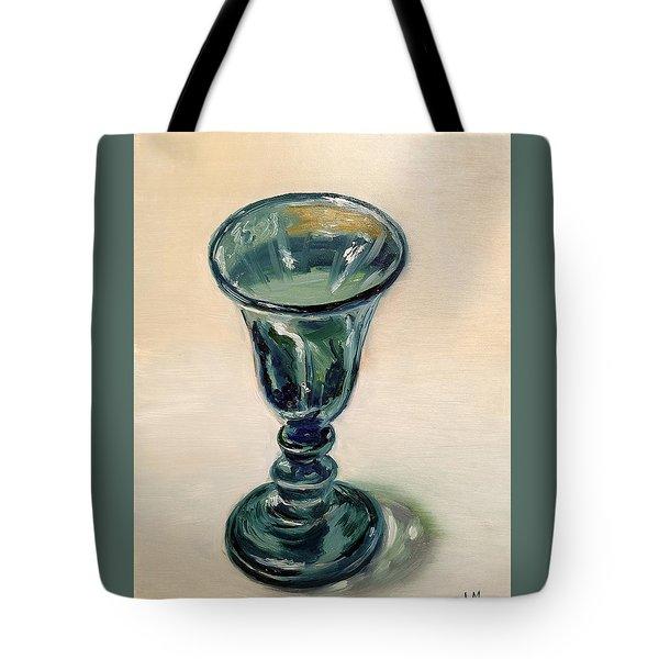 Green Glass Goblet Tote Bag