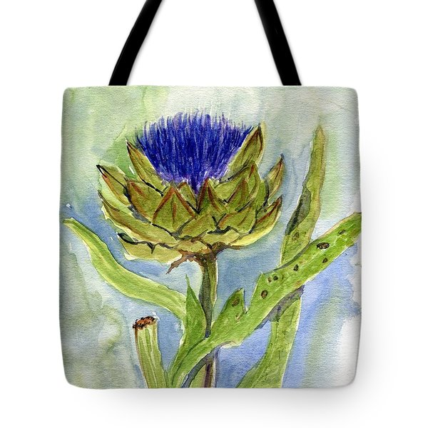 Green Globe Artichoke Bloom Tote Bag