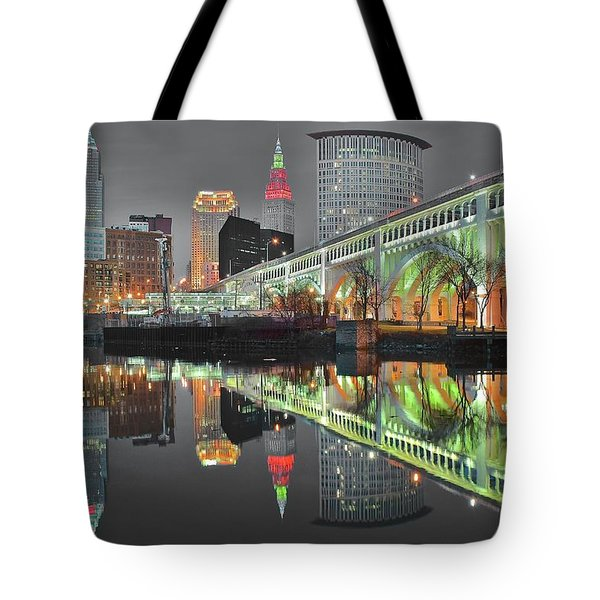 Tote Bag featuring the photograph Green Glow by Frozen in Time Fine Art Photography