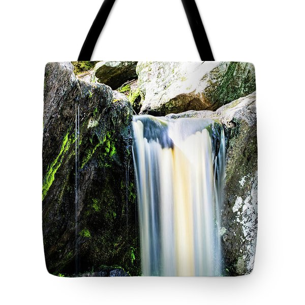 Green Glows On The Falls Tote Bag