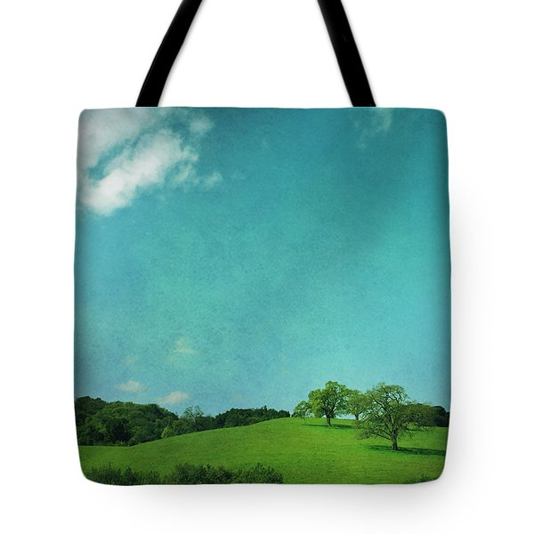 Green Grass Blue Sky Tote Bag by Laurie Search