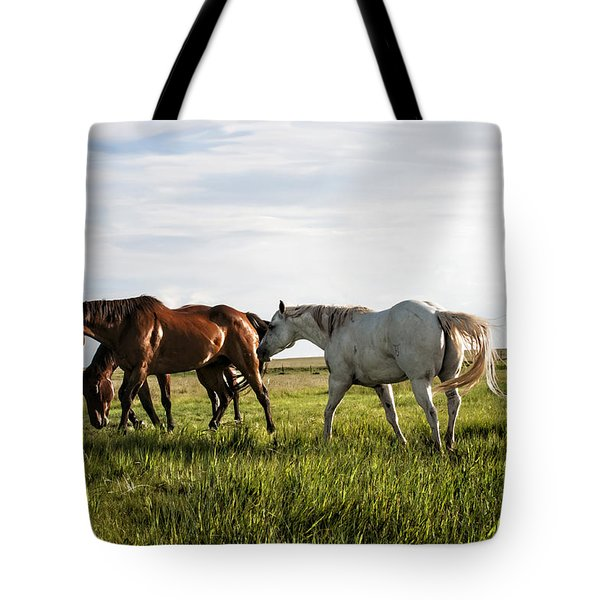 Green Grass Of Summer Tote Bag by Karen Slagle