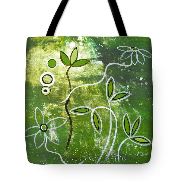 Green Growth Tote Bag by Ruth Palmer