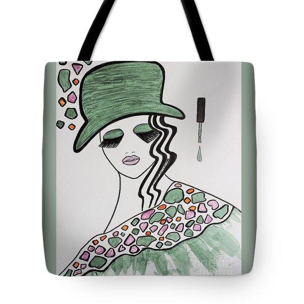 Green Hat Tote Bag