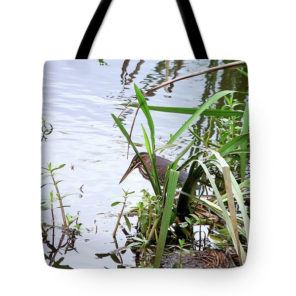 Green Heron Tote Bag by Al Powell Photography USA