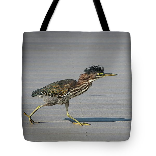 Green Heron On A Mission Tote Bag