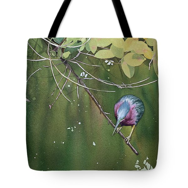 Green Heron, Red Mangrove Tote Bag