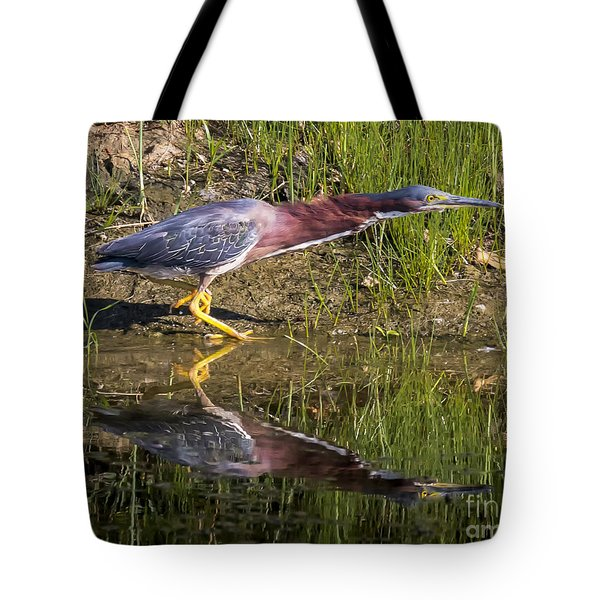 Tote Bag featuring the photograph Green Heron  by Ricky L Jones