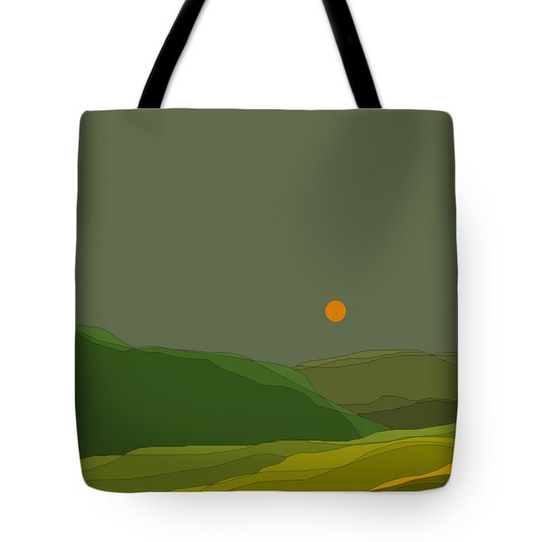 Green Hills In The Valley Tote Bag by Val Arie