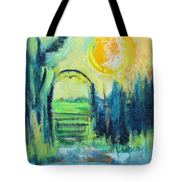 Green Horse Pasture Tote Bag by Betty Pieper