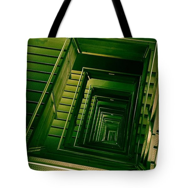 Green Infinity Tote Bag