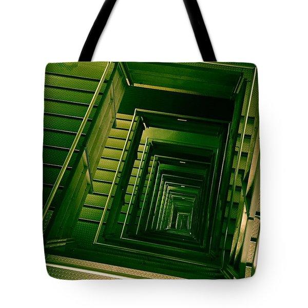 Green Infinity Tote Bag
