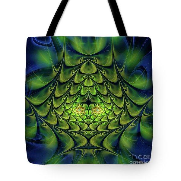 Tote Bag featuring the digital art Green Island by Jutta Maria Pusl