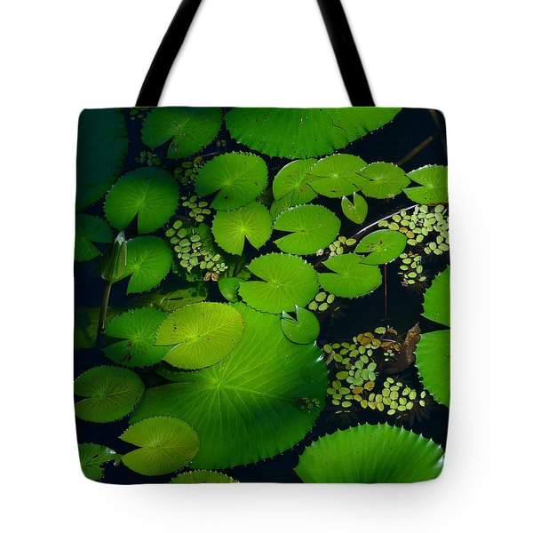 Green Islands Tote Bag by Evelyn Tambour